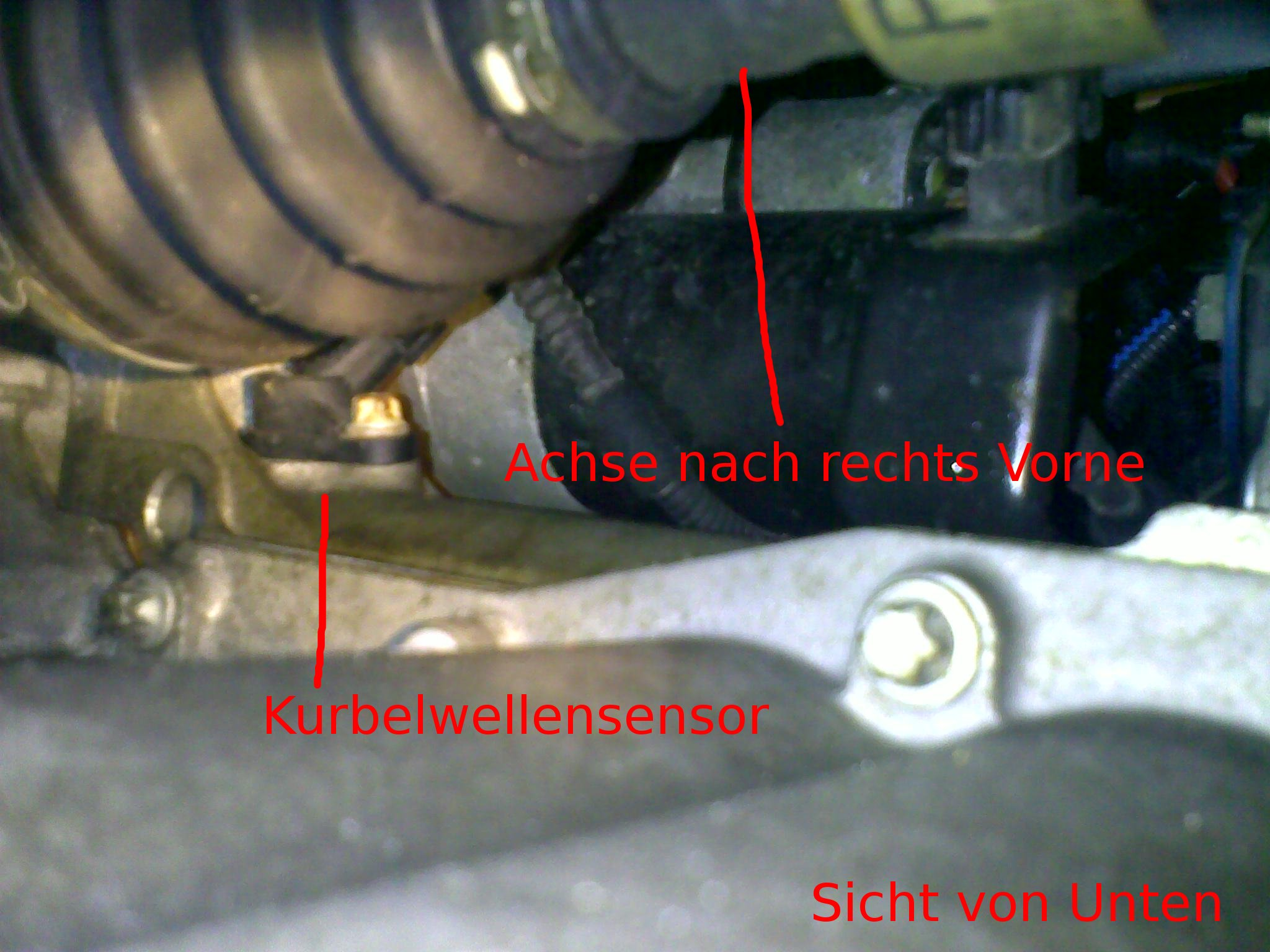Auto: Opel Corsa C Kurbelwellensensor austauschen | Julius